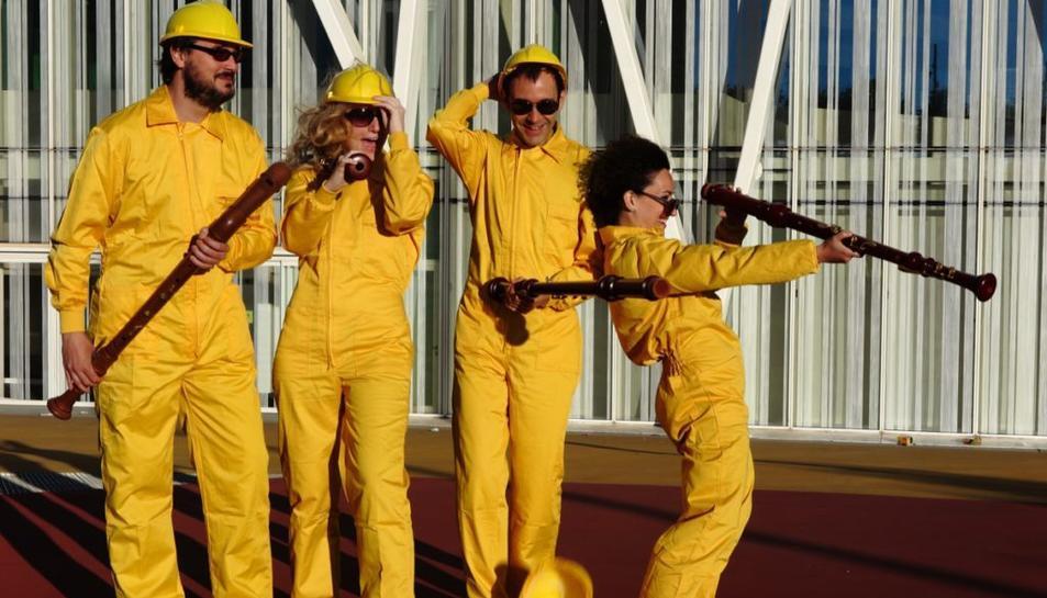 Els integrants del quartet Windu.