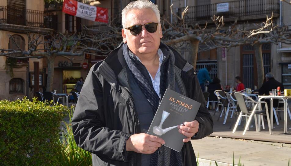Josep Maria Rovira aquest dissabte a la plaça del Pati de Valls.