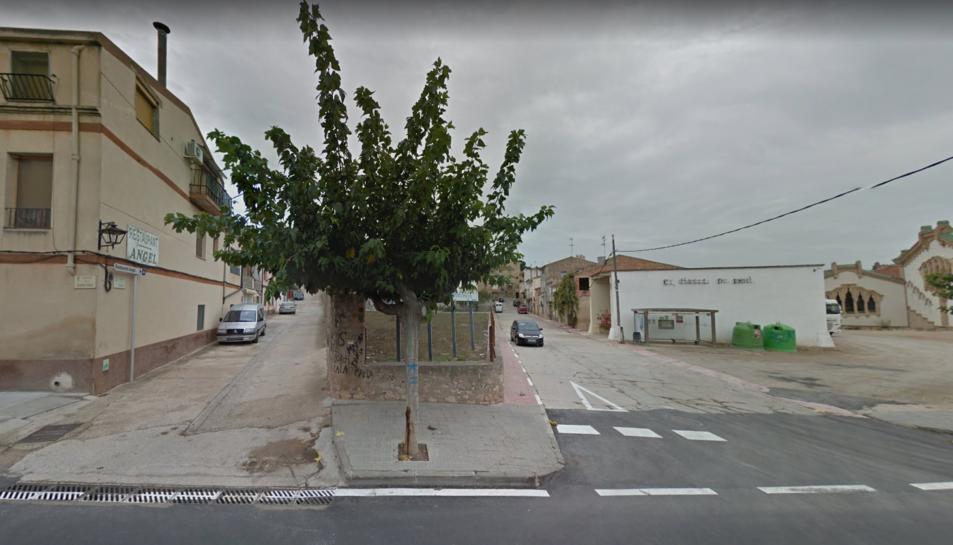 El carrer on està ubicat el celler