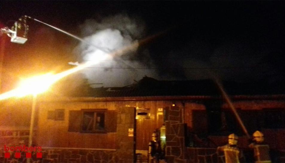 El foc va afectar per complet la masia