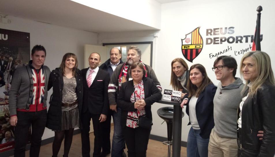 Els nous empresaris del CF Reus han vist el partit d'hoquei de l'equip de la ciutat