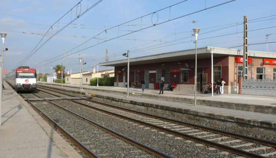 Imatge de l'estació de Renfe a l'Arboç.