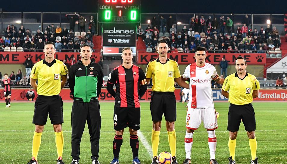 Vicandi Garrido va arbitrar el partit que el Mallorca va jugar a l'Estadi Municipal de Reus el desembre passat.