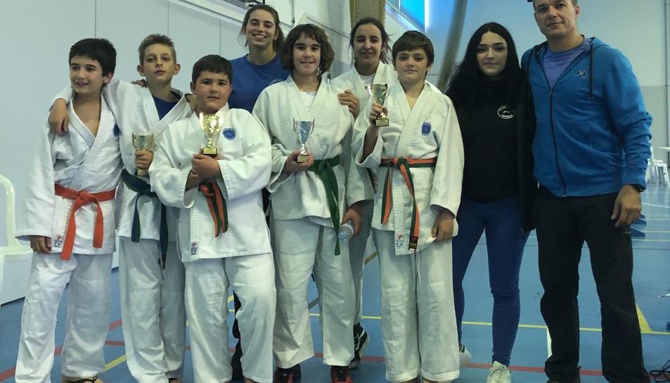 Els participants del Club Judo Dojo Tarraco a la Copa de Tarragona.