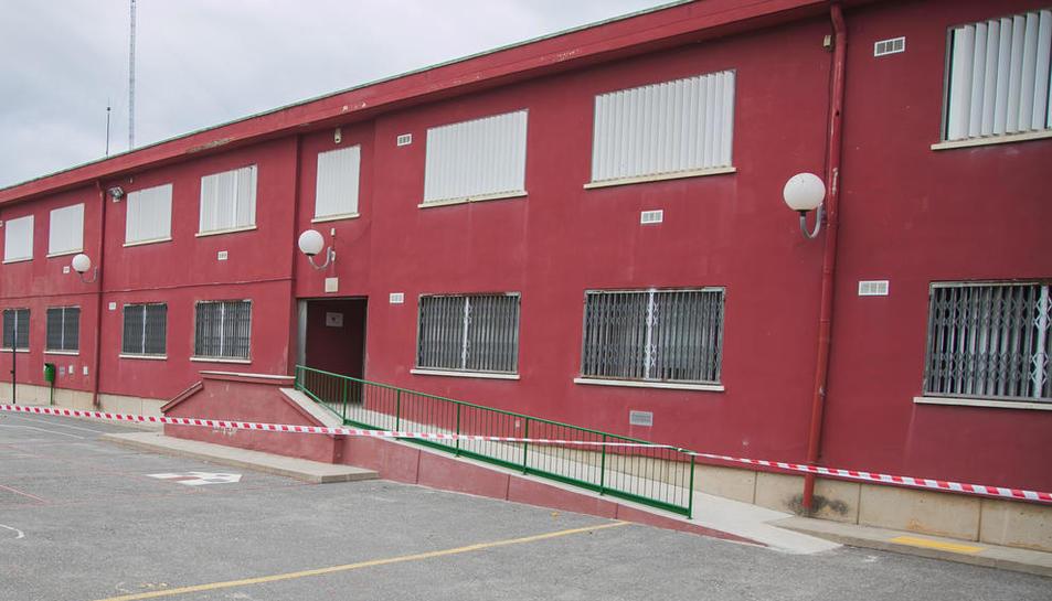 Accés de l'Escola La Floresta tancat, el passat 25 de setembre.