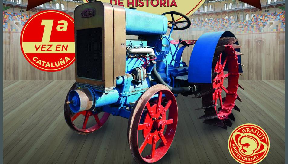 Cartell de l'exposició que acollirà la Tarraco Arena Plaça.