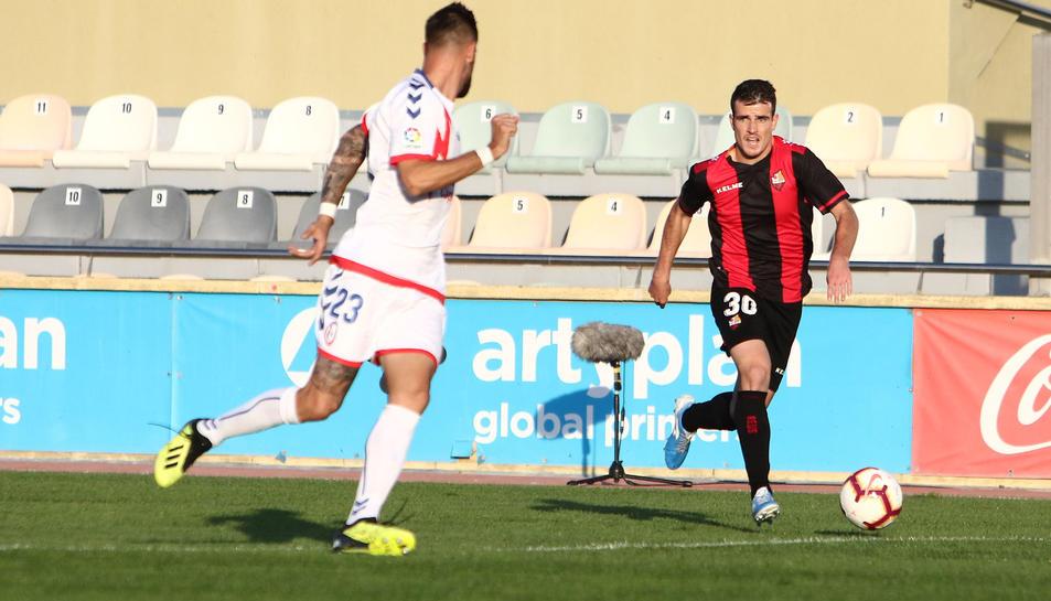 Adri Guerrero en un partit del club roig-i-negre.