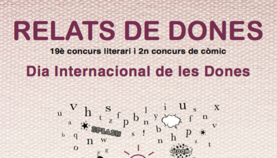 Imatge del cartell del concurs literari 'Relats de dones'.