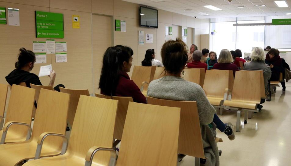 Pla general de la sala d'espera del CAP Comte Borrell.