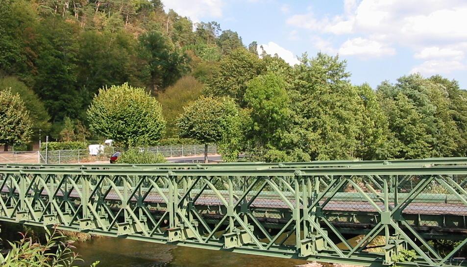 Imatge d'arxiu d'un pont Bailey.