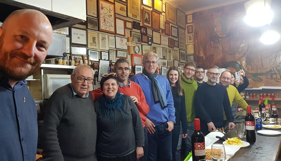Eduard Boada amb els integrants del col·lectiu #TgnTT