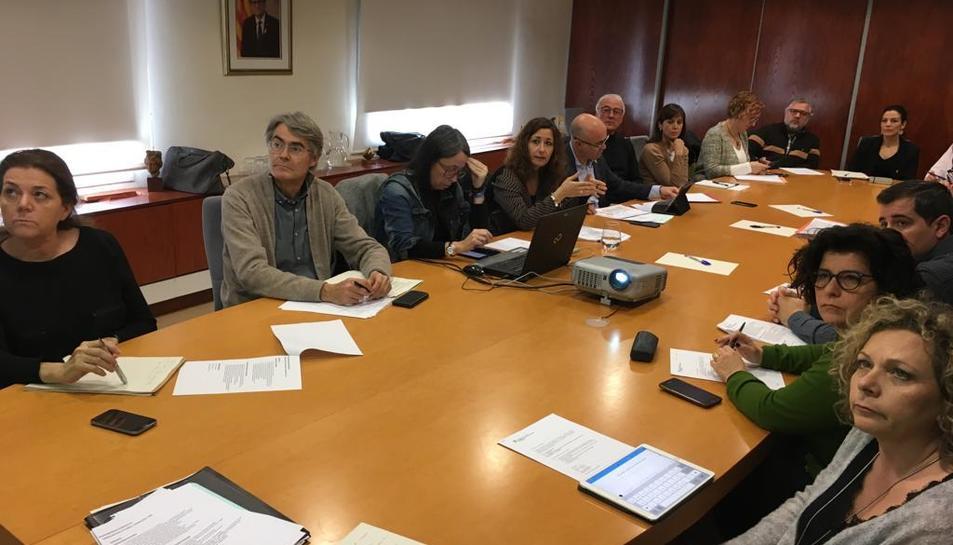 Imatge de la reunió de la taula territorial