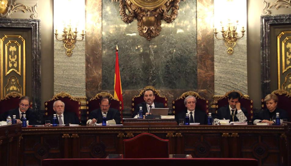 Imatge general dels set membres del Tribunal Suprem que jutjaran l'1-O.