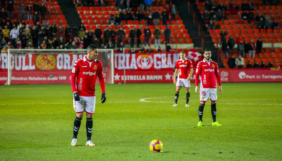 Imatge del partit que el Nàstic va jugar contra Las Palmas al Nou Estadi la jornada passada.
