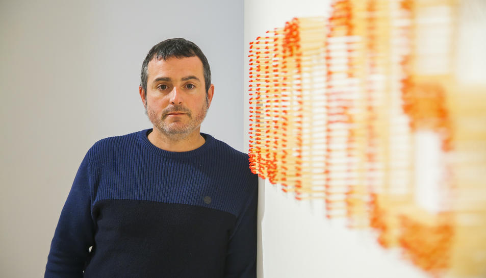 Blai Rosés, dimecres passat al Museu d'Art Modern de Tarragona.