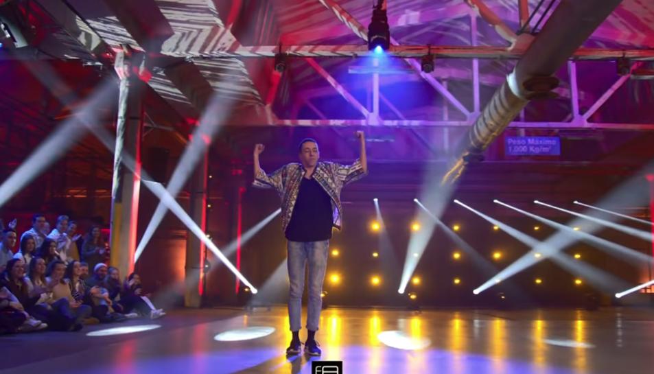 Imatge d'Iván Santander durant la seva primera coreografia en solitari al programa.