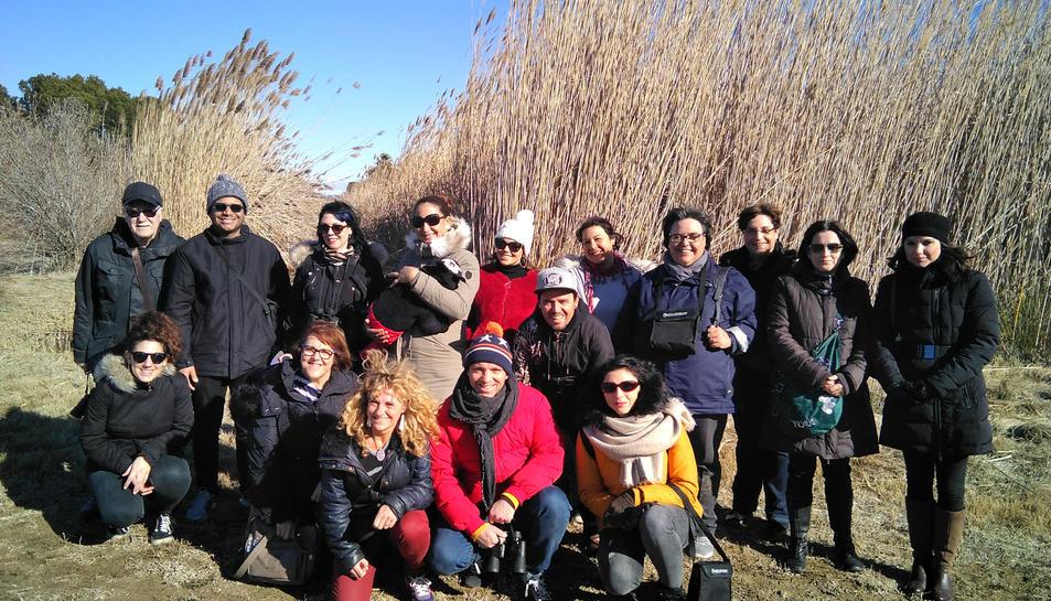 Fotografia de grup durant l'excursió a la Séquia Major.
