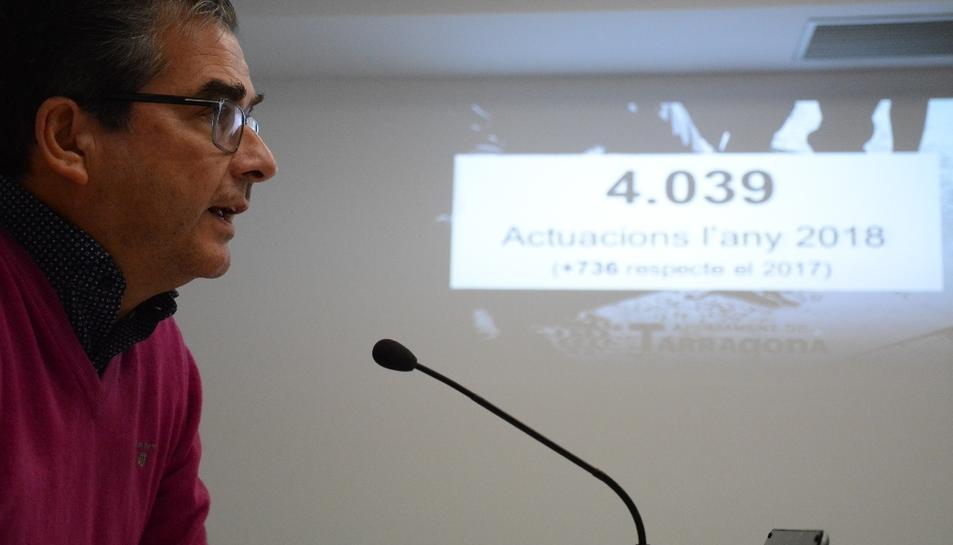 Martín, ahir durant la presentació del balanç de les actuacions dutes a terme per la BIR.