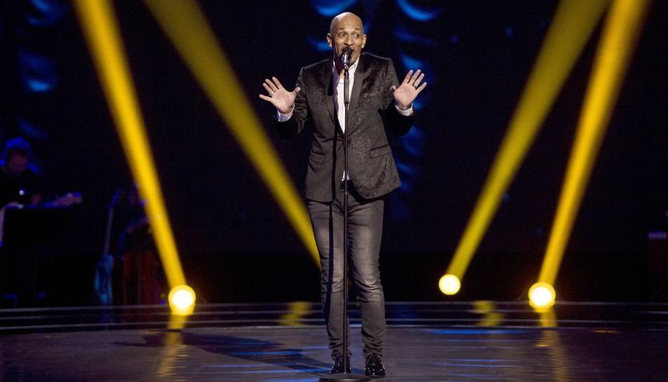 Mark Wayne durant la seva actuació a 'La Voz'.