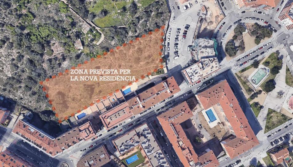 Zona on es construirà la futura residència.