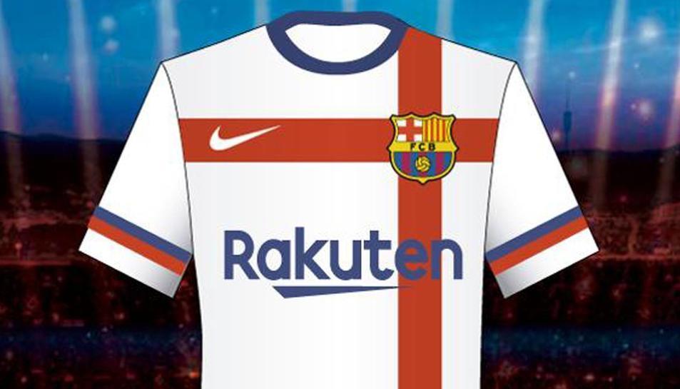 Reproducció de la samarreta proposada per Nike com a segona equipació pel Barça.