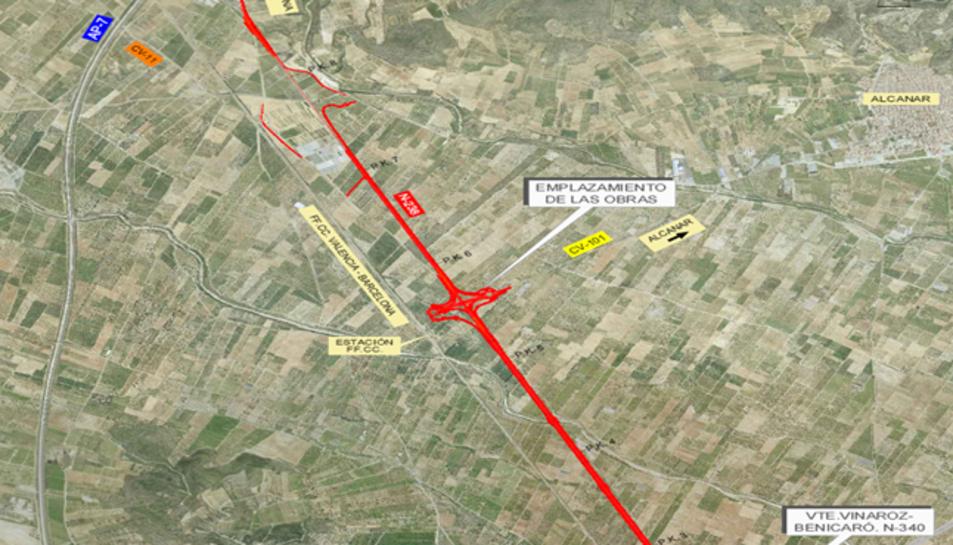 L'obra abastarà un tram de 6,5 quilòmetres i les connexions amb la carretera CV-11 i la CV-101.