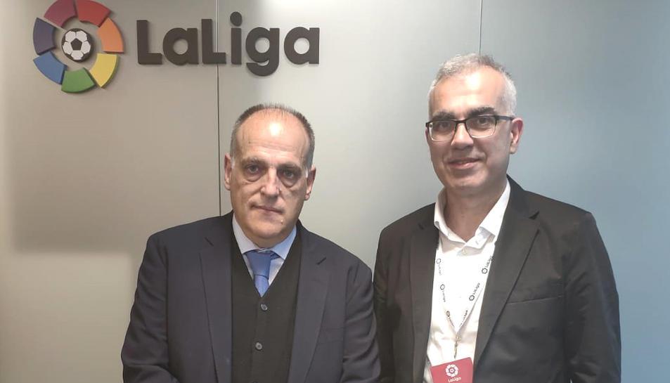 El portaveu del PSC, Andreu Martín, amb el