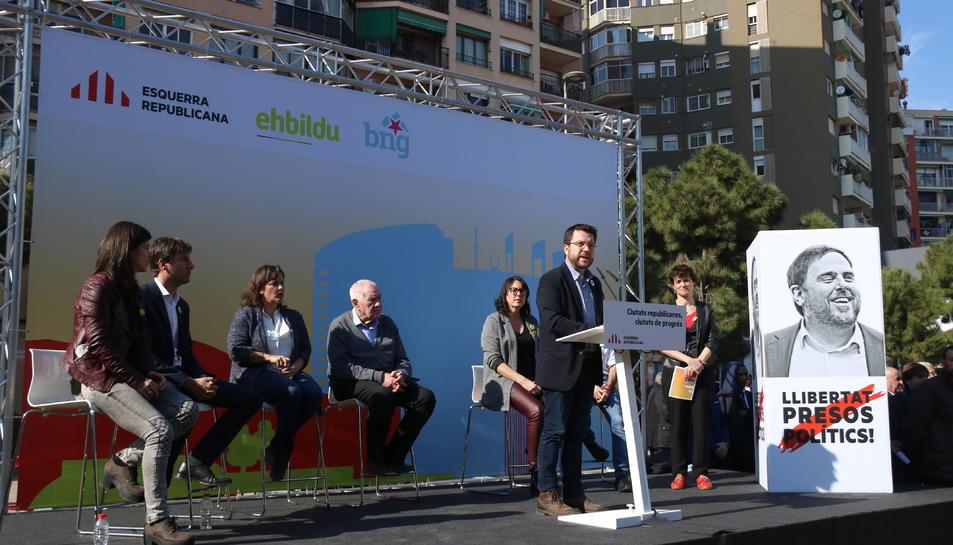 Presentació de la candidatura d'ERC, EH Bildu i BNG a Barcelona.