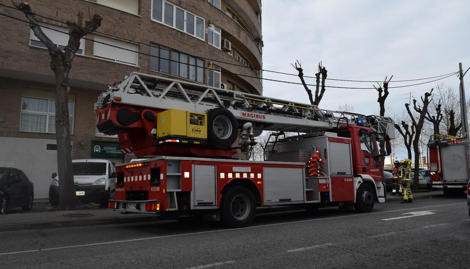 Una de les dotacions de Bombers que han treballat a l'incendi