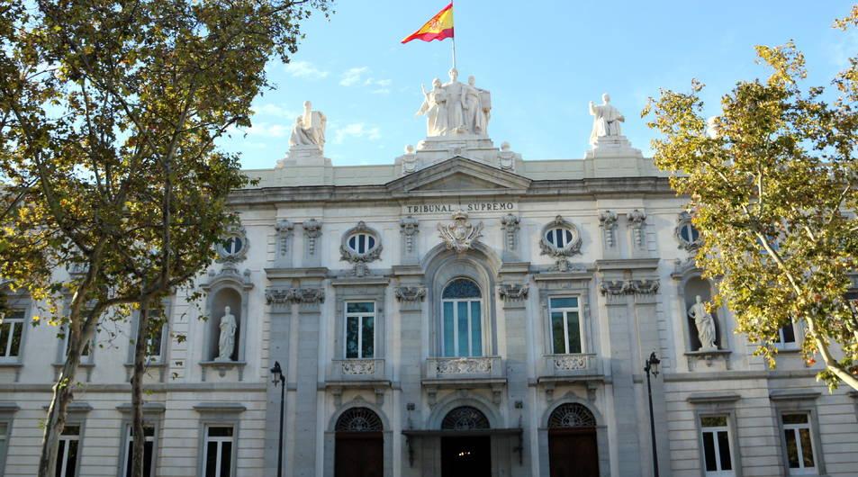 La façana del Tribunal Suprem, on se celebrarà el judici.