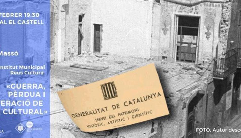 Cartell de la conferència que Jaume Masó oferirà al Centre Cultural El Castell.