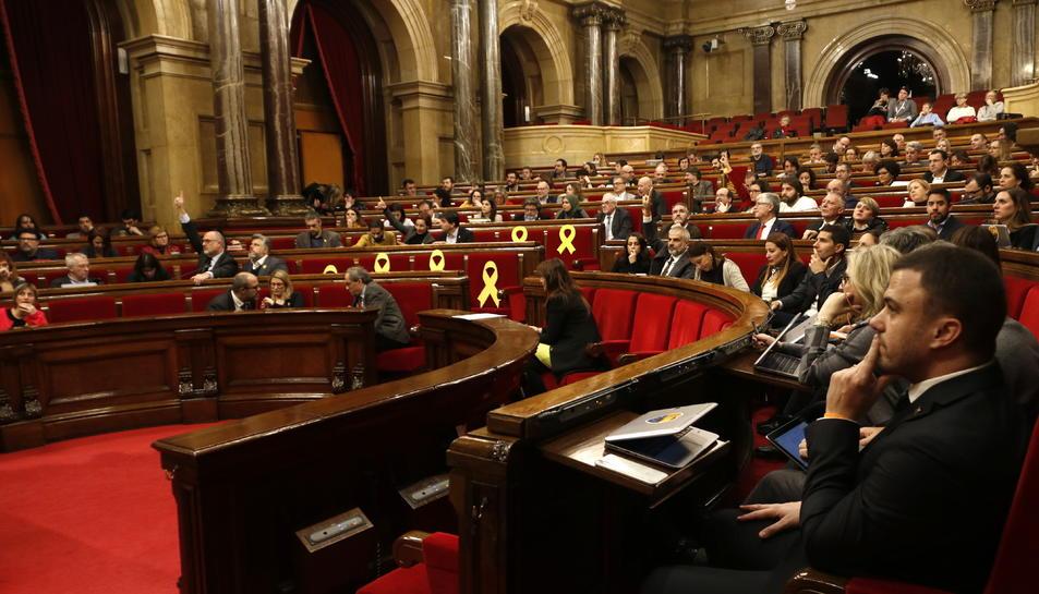 Imatge d'arxiu de l'hemicicle del Parlament de Catalunya.