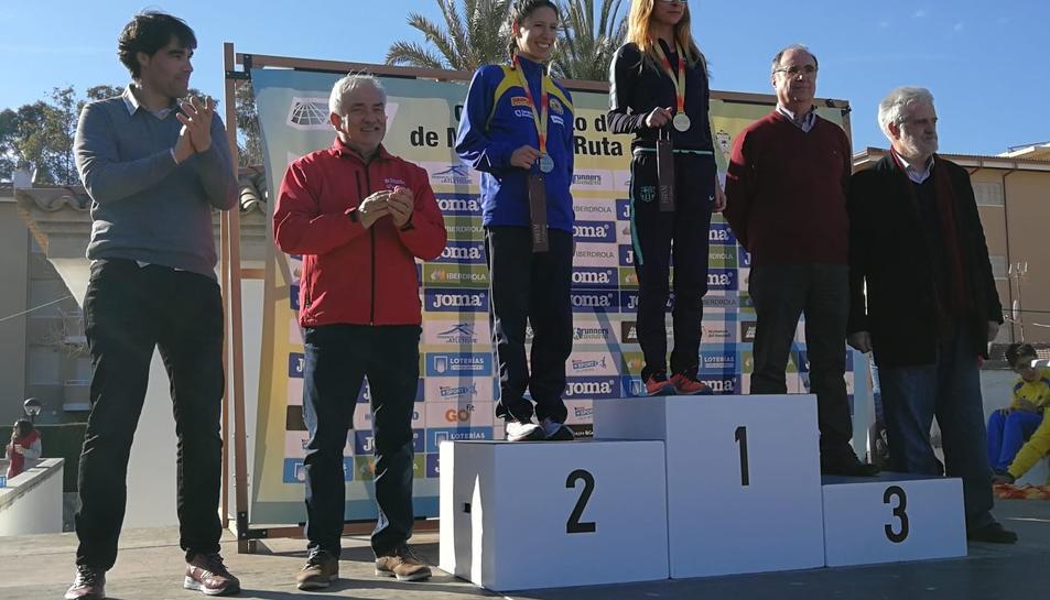 Raquel González, al lloc més alt del calaix, després de la prova al Vendrell.