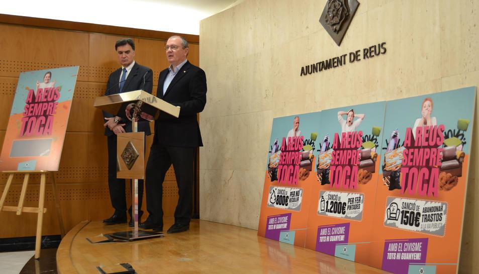 Presentació de la nova campanya contra l'incivisme a Reus.
