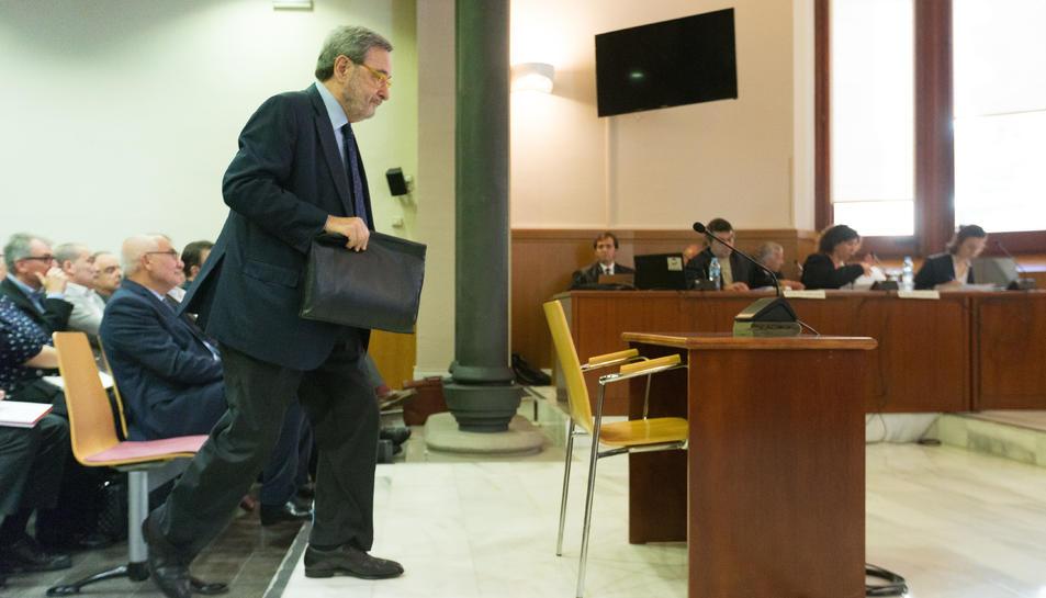 Narcís Serra, l'11 d'octubre del 2018 durant la seva declaració en el judici.