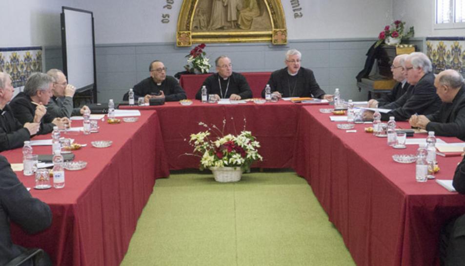 Imatge de la reunió ordinària de la Conferència Episcopal Tarraconense.