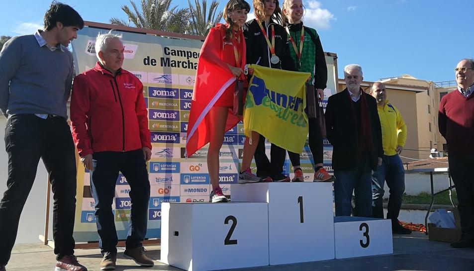 Griselda Serret, del Club Runners El Vendrell, es va proclamar campiona nacional de la categoria sub-16 femení.