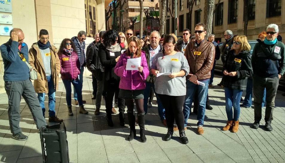 Concentració de CCOO i UGT a Tarragona.