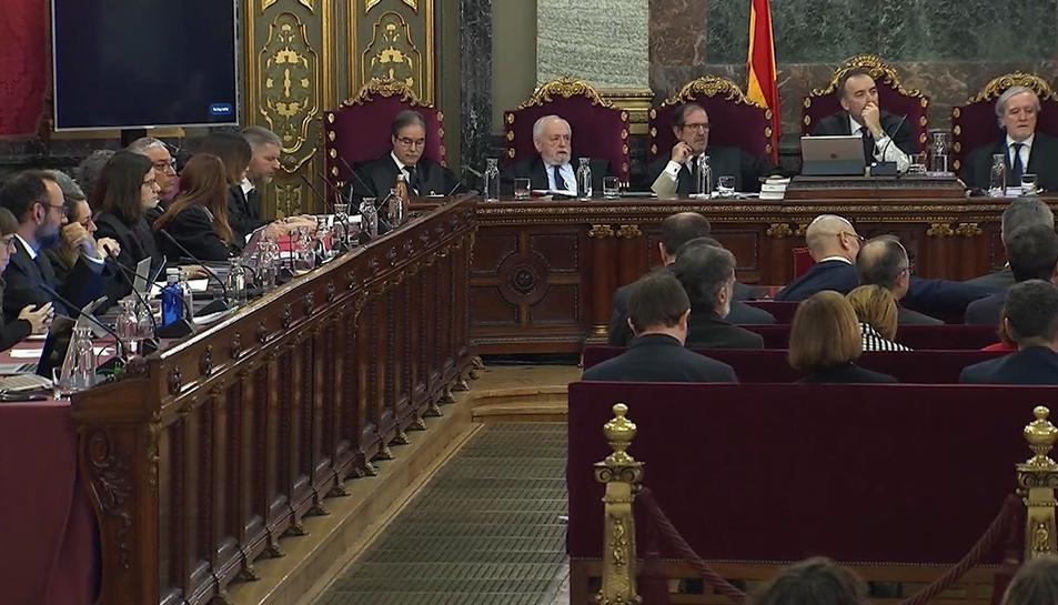 Imatge de la segona sessió del judici per l'1-O.