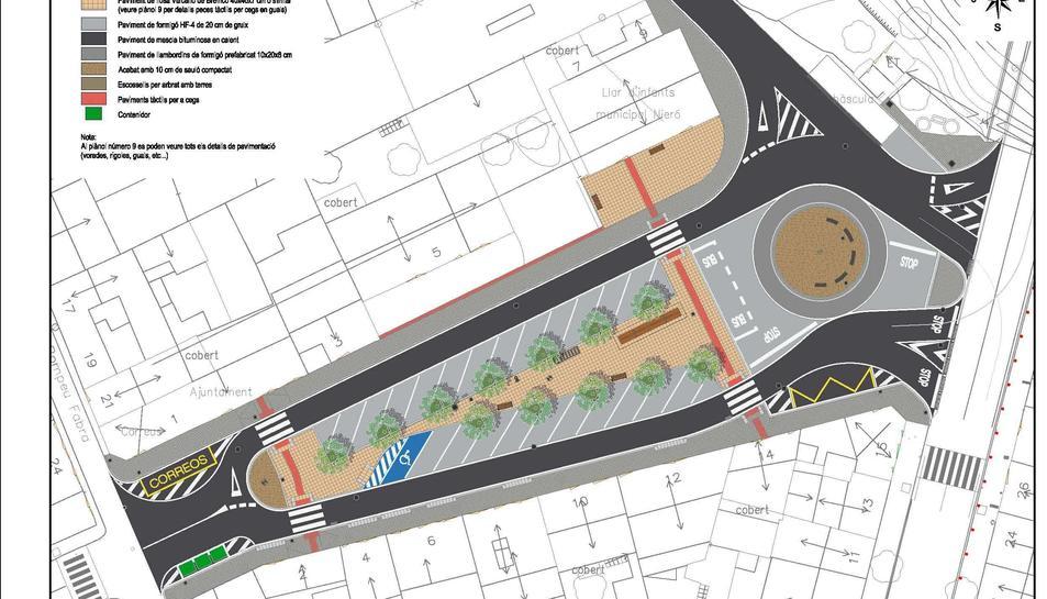 Imatge del projecte del nou accés a Llorenç del Penedès.