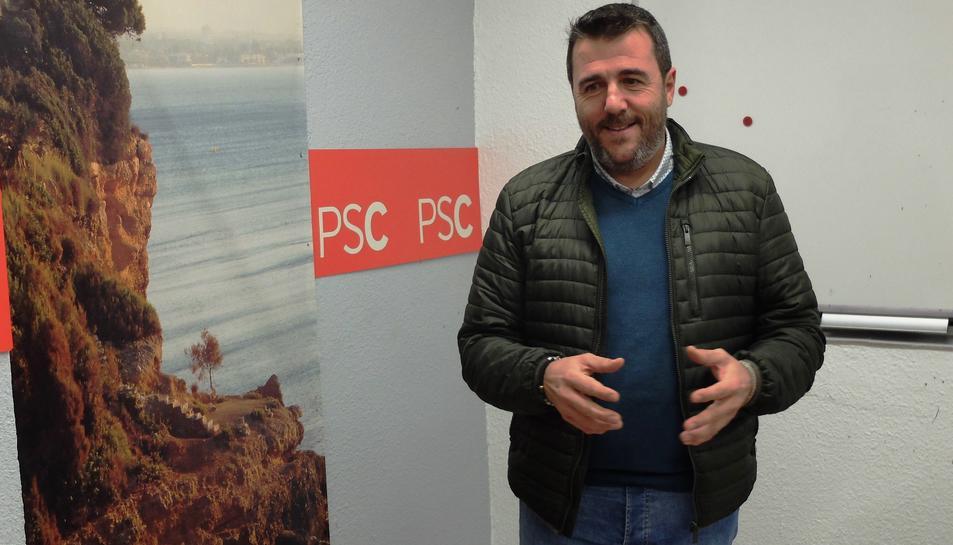 Imatge de Fran Morancho, actual alcalde de Mont-roig i cap de llista del PSC per les properes eleccions municipals.