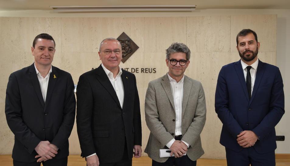 Foto de família de la presentació del Mobile Week Reus.