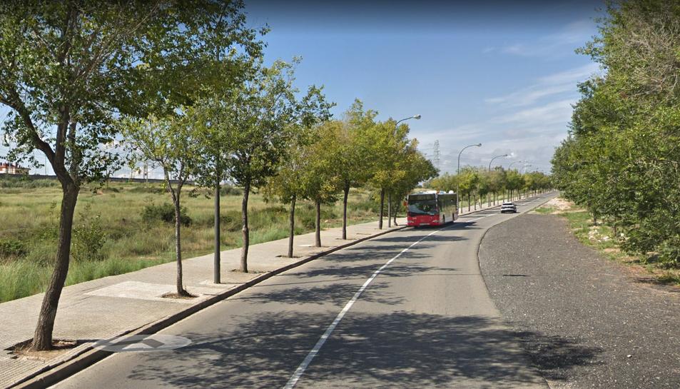 Aspecte que ofereix en l'actualitat l'avinguda Tarradellas, entre Campclar i Bonavista.