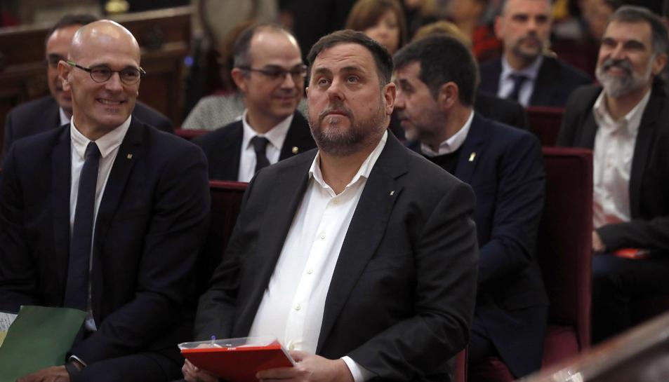 Oriol Junqueras, durant la primera sessió del judici.