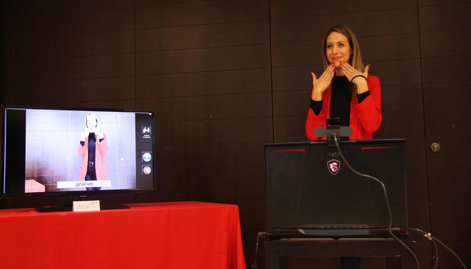 Presentació el 14 de febrer d'un projecte d'interpretació de llengua de signes.