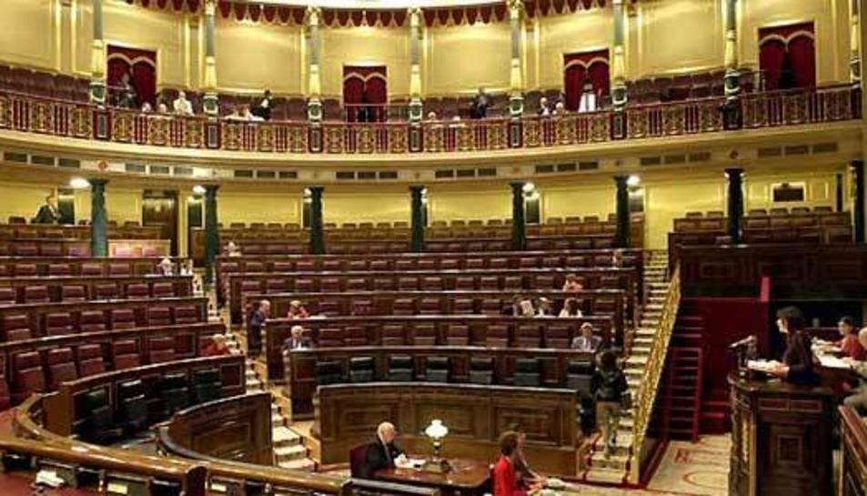 El Congrés buit el 17 de maig de 2007, en plena campanya per a las eleccions municipals i
