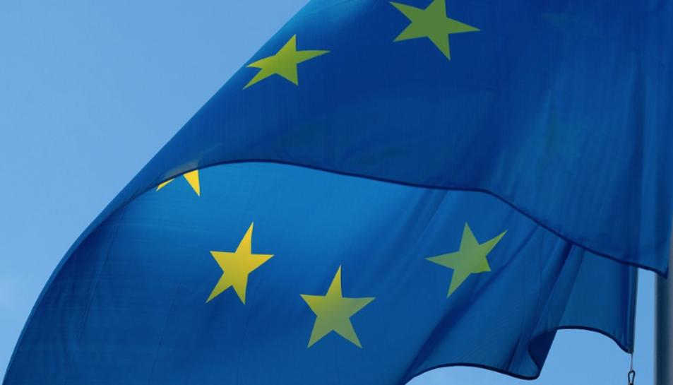Imatge de la bandera de la Unió Europea.