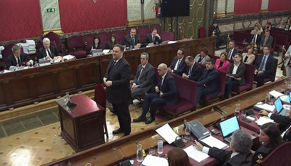 Declaració d'Oriol Junqueras en el judici 1-O