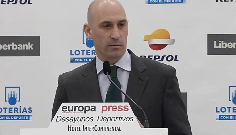 Luis Rubiales, president de la Real Federación Española de Fútbol