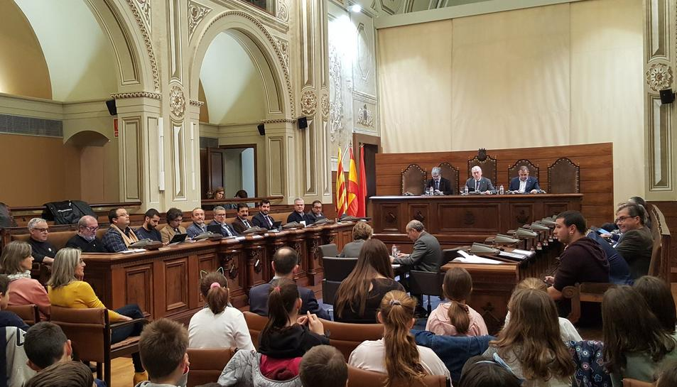 Imatge del ple de la Diputació de Tarragona d'aquest 22 de febrer.